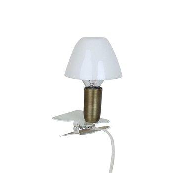 Lampa Mini På Klämma Antik Vit