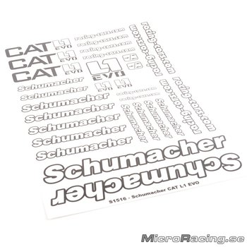 SCHUMACHER - Decals Pre-cut - CAT L1 EVO