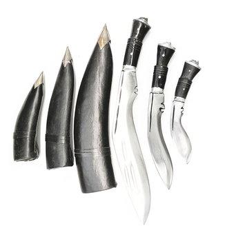 Kukri Kniv i Kolstål (Gurkha Khukuri)  - - Svart handtag