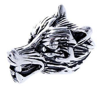 Silver Varg Skäggpärla - 8mm Hål