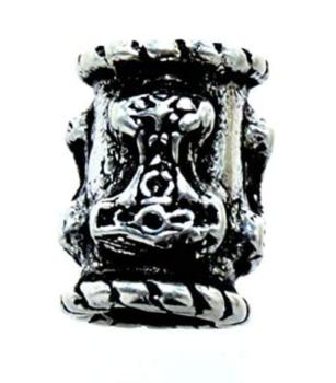 Skäggpärla i silver ,  Skåne Tors hammare