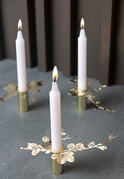 SMALL CANDLEHOLDER CHERRY B.