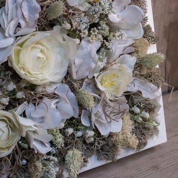 Blomstertavla - Vit Frost