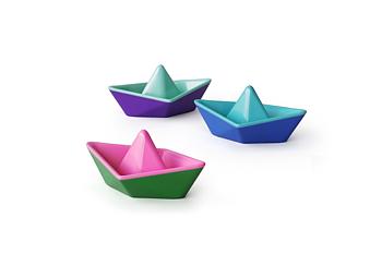 Fargeskiftende Origami båt (3 stk)