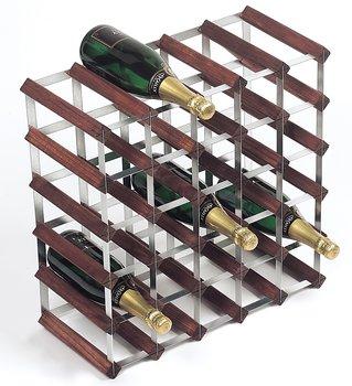 Vinstativ, 30 flasker, Tre / stål