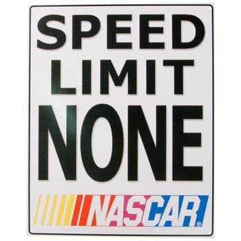 Metallskilt NASCAR - Speed Limit NONE!