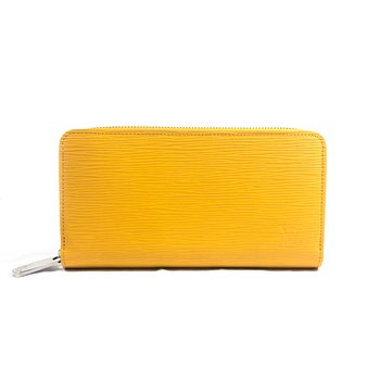 Louis Vuitton Yellow Epi Leather Zippy Long Wallet