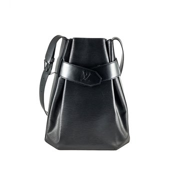 Louis Vuitton Sac D'epaule PM Black Epi Leather Shoulder Bag