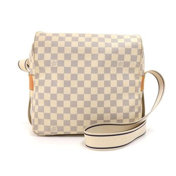 Louis Vuitton Naviglio White Damier Azur Canvas Messenger Bag
