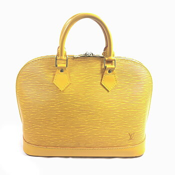 Louis Vuitton Alma Yellow Epi Leather Handbag