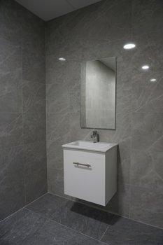 Tvättställskommod och Spegel QBad Kungsholmen Högblank Vit 50 cm
