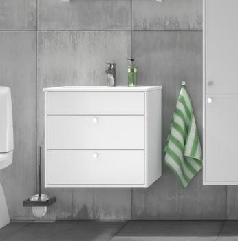 Tvättställsskåp Med Handfat Gustavsberg Gustavsberg Graphic Vit 80 cm